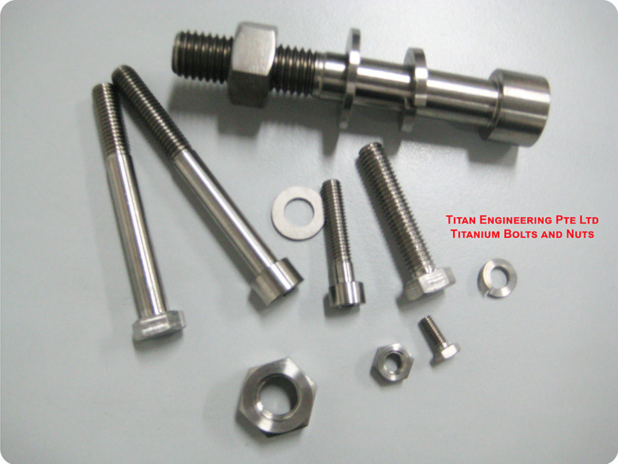 Titanium screws, nuts and bolts