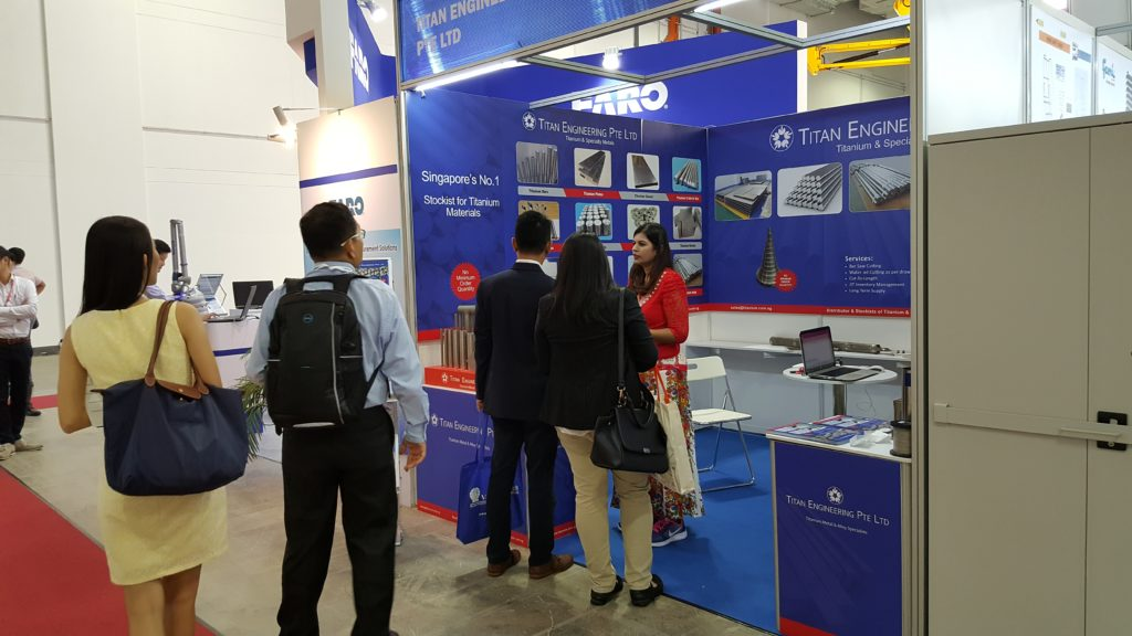 Titanium Metal Supplier in trade show